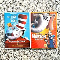 Dr Seuss Lot of 2 Cat in the Hat, Horton Hears a Who Children's DVDs