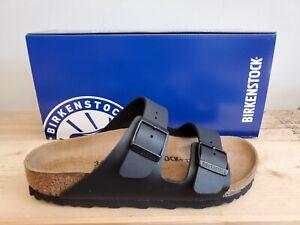 Birkenstock Arizona Birko-Flor Regular Fit Black Sandals for Men Made in Germany