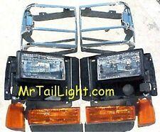 8 Piece Head Light Kit Ford Explorer 91 92 93 94 Parking Side & Chrome Doors