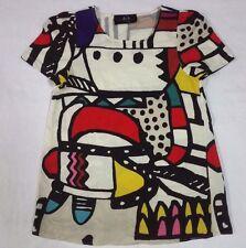 McQ ALEXANDER McQUEEN Blouse Dress Shirt Top Tank Pop Art Colorful Design