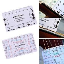String Action Gauge Ruler Guide Setup Measuring Luthier Tool for Guitar Bass
