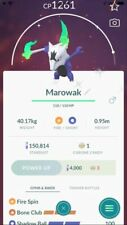 Pokemon Shiny MAROWAK (Alolan) CP1500PvP - Charge move second unlocked - Trade
