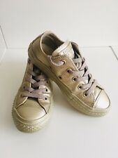 All Star Converse Golden Shoes Infant Trainers. Size 28.5 UK 11