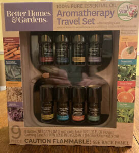 Better Homes & Garden Aromatherapy Travel Set Essential Oil Set W/CARRYING CASE