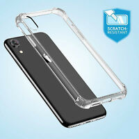 CLEAR Case For iPhone XR XS MAX Shockproof 360 Silicone Gel Protective TOUGH New