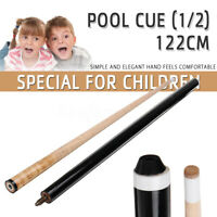 48''' 122CM 2-Piece 1/2 Wood Cue Stick Snooker Billiards Pool for Children Kid