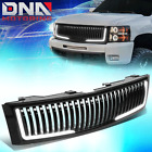 For 2007-2013 Chevy Silverado 1500 Vertical Style Front Bumper Grille Wled Drl