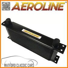 Aeroline Black 14 Row Oil Cooler for MG Midget, MGB, Mini, Triumph, Ford Austin