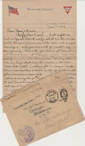 WWI Jan 1919  Letter from Major of 14th ENGINEER Regt. in France  GREAT CONTENT