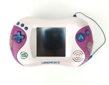 Leap Frog Leapster 2 Lot Learning System pink game console case 6 Games