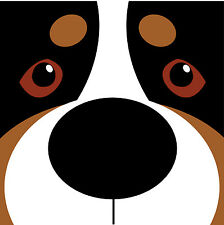 Swissy Face decal. Perfect for Swissy, Berner, Entle and Appenzeller owners!