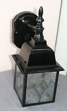 Vintage Out Door or Porch Wall light Sconce Lanterns Seeded Glass Refurbished