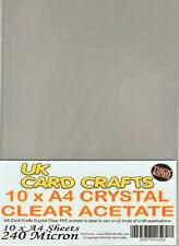 10 A4 Crystal Clear Acetate Sheets Transparency Film. High Clarity - 240 Micron