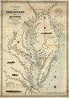 1862+Coast+Survey+Map+Chart+Chesapeake+Delaware+Bay+Art+Print+Poster+Wall+11%22x16