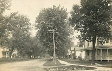View Of The Homes On Madison Avenue, West of Main, Milton Wisconsin WI RPPC 1910