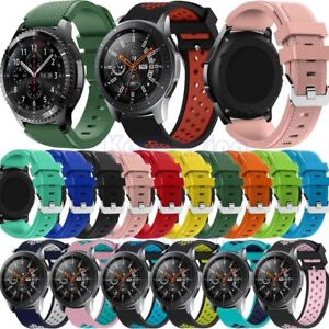 For Samsung Galaxy Watch 46mm/Gear Sport/S3/S2 Classic Silicone Band Watch Strap