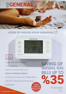 WIRELESS 7 DAYS PROGRAMMABLE  HT300S SET ROOM THERMOSTAT ( Boiler Plus )