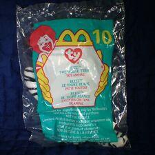 New listing Blizz - White Tiger #10 McDonald's Ty Teenie Beanie Baby Retired 2000 New #2-2