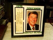 GOVERNOR RONALD REAGAN ORIGINAL RARE 1 DAY EVENT TICKET FRAMED DISPLAY - 1976