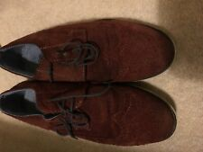 BOYS SHOES SIZE 5 NEXT LACE UP BROWN/RUST SUEDE