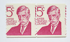 USA - 1978 - Pair of 15 Cent Magenta Oliver Wendell Holmes _MISCUT_ Stamps NH