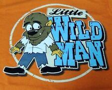 WEREWOLF  Little Wild Man Werewolf T-Shirt Long Sleeves Orange 12M