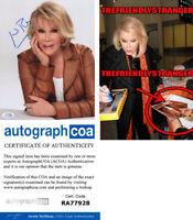 JOAN RIVERS signed Autographed 8X10 PHOTO c EXACT PROOF Fashion Police ACOA COA