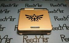 Gold & Black Zelda GameBoy Advance SP *MINT* Nintendo System AGS-001 w/ charger