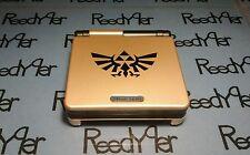 Gold & Black Zelda GameBoy Advance SP *MINT* Brighter AGS-101 Nintendo System