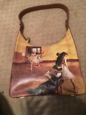 "New Degas Printed Genuine Leather ""ICON"" Los Angeles  Ballerina Bag Hobo Purse"