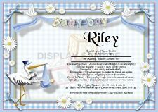 Peronsalised Gift - First Name Meaning Certificate It's A Boy - Welcoming Baby