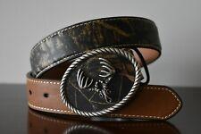 Nocona Boys Mossy Oak Breakup Camo Belt with/Deerskull Buckle N44299222 Size 26