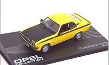 SUPERB OPEL COLLECTION DIECAST 1/43 OPEL MANTA A GT/E GTE 1974-5 YELLOW/BLACK