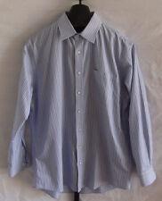 Nordstrom Men's Shop Blue & White Striped Button down shirt Mens Size 16 1/2 34