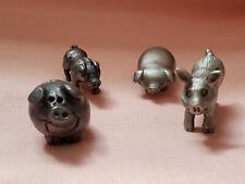 Miscellaneous Miniature Pewter Pig Lot Figure 4 pcs