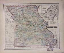 Missouri Map 1858 Colton Hand Colored  ********* Original *************