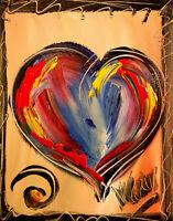 HEARTS  LANDSCAPE Abstract Modern Original Oil Painting by Mark Kazav  VTF7IR