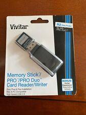Vivitar Memory Stick / PRO / Duo Card Reader / Writer (USB 2.0 - Mac & PC) - NIB