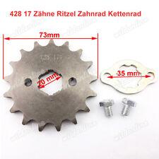 428 17 Zähne Ritzel Zahnrad Kettenrad Retainer Set für Chinese Dirt Pit Bike ATV