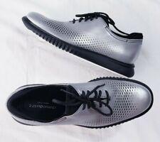 Cole Haan 2.Zerogrand Laser Wingtip Oxfords Mens 7.5 M Metallic Shoes C25575 New