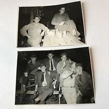 Vtg Photograph Military Soldiers Drinking Beer Blatz Afga Brovira Paper Lot Of 2