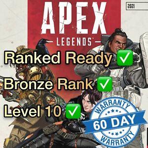 Apex Legends Smurf Account / Ranked Ready / Level 10 / Bronze Rank (PC Origin)