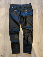 HM Ladies Leather Look Trousers UK8