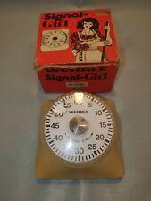 More details for wehrle signal girl timer 70's german retro vintage boxed