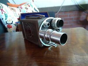 Vintage 16mm Bell & Howell Filmo camera movie turret head works!