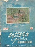 VINTAGE 1952 EASTERN GARDEN AQUARIUM CATALOG! MIAMI! COLOR PICS/TROPICAL FISH ++