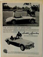"""1959 Austin Healey 100-Six Blind Brook Polo Club Purchase N.Y. Original Ad 9x11"""""""