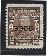 Canada Precancels - ON - Kitchener - 2-218 - 2c brown KGV 1935