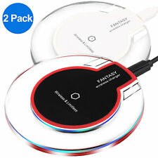 2x Qi Wireless Charger Charging Pad for iPhone 11 Pro Max XS Galaxy Note 10 S10