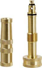 "Solid Brass Garden Spray Nozzle 4"" Adjustable Twist Water Hose Nozzle USA Stock"